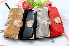 LUMIEL DIA GOLD SNAKE DIARY WALLET SMARTPHONE CASE FOR GALAXY A3