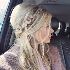 Bridget Bardot braided hairstyle