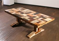 table made of scrap wood ( #recycled #furniture #diy #furnishings #home ) | H U M Λ N™ | нυмanΛCOUSTICS™ | н2TV™