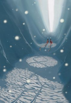 Trails in the snow by ~BlueMidna on deviantART