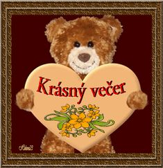 krásny večer - StartPage podľa Ixquick Picture Search Picture Search, Good Night, Me Quotes, Teddy Bear, Humor, Education, Animals, Text Posts, Nighty Night