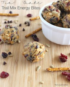 No Bake Trail Mix Energy Bites are a healthy grab-n-go snack and the perfect post run/workout food.