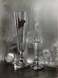 Pavol Hudec-Ahasver - Bez názvu I. Flute, Still Life, Champagne, Tableware, Drinkware, Objects, Dinnerware, Flutes, Dishes