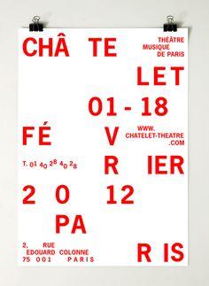 Affiche / Programme Châtelet.  Victoire Coyon