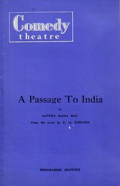 A Passage to India Comedy Theatre Programme 1960  Norman Wooland & Enid Lorimer