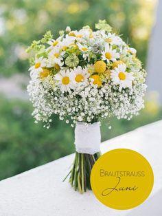 Brautstrauß des Monats: Ein fröhlicher Sommerstrauß