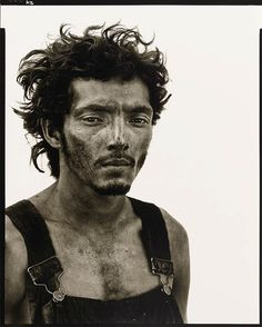 Richard Avedon, Roberto Lopez,  oil field worker, Lyons, Texas, September 28, 1980, from In the American West
