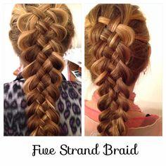 Hair Styles by Liberty: Five Strand Dutch Braid