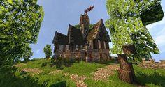 Medieval House Minecraft World Save