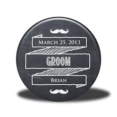 PERSONALIZED Groom Gift - Mirror, Magnet, Bottle Opener or Pin - Chalkboard. $5.00, via Etsy.
