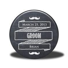 PERSONALIZED Groom Gift - Mirror, Magnet, Bottle Opener or Pin - Chalkboard. $5.00, via Etsy.