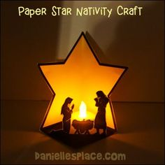 Paper Star Nativity Craft - Mary, Joseph, and Baby Jesus Craft - sunday school Nativity Star, Nativity Crafts, Christmas Nativity, Kids Christmas, Black Nativity, School Christmas Gifts, Preschool Christmas Crafts, Sunday School Kids, Sunday School Crafts