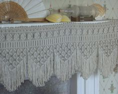 white linen drapes with this trim for the bedroom... now, where to find the illusive stuff