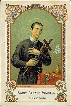 St Gerard Majella, Funeral Cards, Catholic Pictures, Vintage Holy Cards, Line Art, Christianity, Saints, Photos, Images