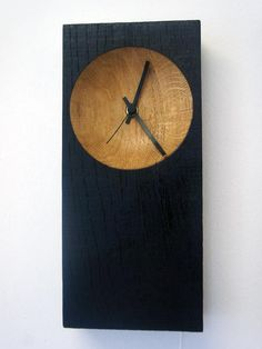 Black Hole Handmade Contemporary Wooden Clock by WoodworksDesigns, £67.00