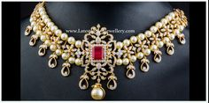 Adorn your neck with this fascinating and enchanting diamond choker . Featuring an two south sea pearls rows intricate necklace, embellis. Indian Wedding Jewelry, Indian Jewelry, Bridal Jewelry, Beaded Jewelry, Choker Jewelry, Jewelry Sets, Silver Jewelry, Diamond Choker Necklace, Pearl Choker