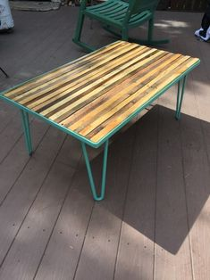 Pallet wood coffee table. Click thru for pics of this DIY build on Ryobi Nation