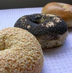 Plain, poppy & sesame - the standard bagels!!
