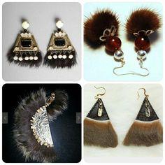 Do you like this fur earrings? I got idea to make something similar... #earrings #fur #handmade #bonemian #bohystyle #boho #bohochic #gypset #unusual #indian #primitive #native #unusual #unique #hippie #bold #chunky