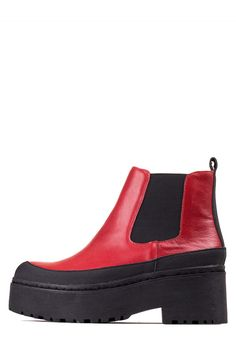 Jeffrey Campbell Shoes NUCLEUS in Red Black Combo