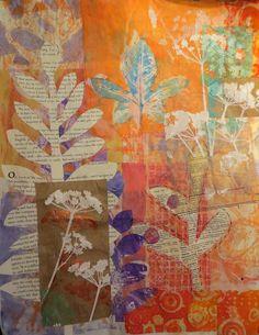 monoprints on paper | by janelafazio