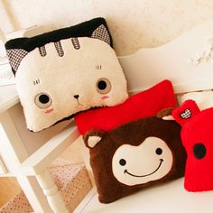 Eudora cartoon cat Totoro cushion machines square pillow cushion warm hands creative pillow gifts