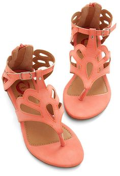 love these #coral sandals - on sale for $23.99! http://rstyle.me/n/ixm4mr9te
