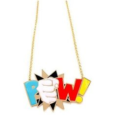 nOir POW Long Enamel DC Comics Necklace