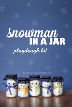 Homemade DIY Gifts in A Jar | Best Mason Jar Cookie Mixes and Recipes, Alcohol Mixers | Fun Gift Ideas for Men, Women, Teens, Kids, Teacher, Mom. Christmas, Holiday, Birthday and Easy Last Minute Gifts | Snow Man in a Jar Playdough Kit Gift Idea for kids from 1 to 92 |  http://diyjoy.com/diy-gifts-in-a-jar