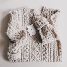 oatmeal cable knit sweater➳