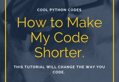 How to make my code shorter.