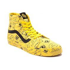 0baf23f51bf123 Vans Sk8 Hi Peanuts Charlie Brown Skate Shoe