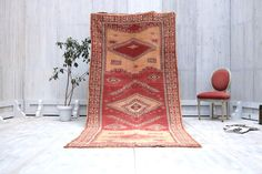 Housewarming gift 4x10 runner carpet its Moroccan Authentic Soft Berber Rug from Taznakht Teppich Rug Moroccan Berber OLD Rug BENI OURAIN
