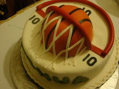 Basketball Cake Inspired by the many pictures on CC, thank you CC'ers.