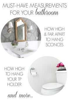 Must-Have Measurements for Your Bathroom (How High to Hang Your Towel Bar, Sconces, Toilet Paper Holder & More!)   Driven by Decor