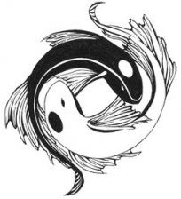 pisces+tattoos+fish+peace+sign | ... 20th are ruled by the sign of pisces whose astrological symbol is two