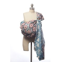 Love this!  Blue and Red Floral Baby Sling from PoshTots