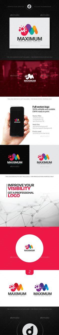Maximum - Logo Design Template Vector #logotype Download it here: http://graphicriver.net/item/maximum-logo/14442905?s_rank=675?ref=nexion
