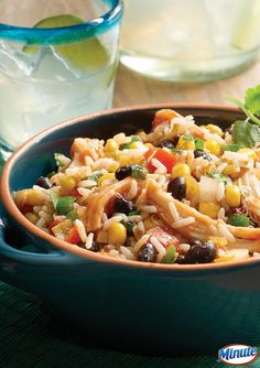 This Fiesta Chicken and Rice recipe is a delicious lunch or dinner option for busy weekdays. Made with Minute Ready to Serve Rice!