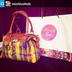 #Repost from @michicohnb and her vibrant MARIA'S #mariasbag #handbag #highend