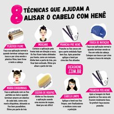 8 TÉCNICAS DE ALISAMENTO PARA CABELO HENEZADO - Blog Dicas Henê Hacks, Blog, Hair Care, Hair Beauty, Make Up, Hair Styles, Instagram, Pocahontas, Memes