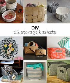Ohoh Blog: DIY Monday # Storage baskets