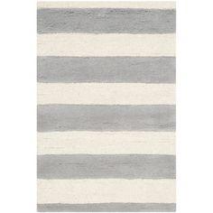 Abington Hand-Tufted Grey/Ivory Area Rug | Wayfair UK
