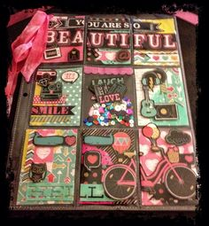 Pocket letter from a chalkboard paper pack by Tammy Michelle Lee