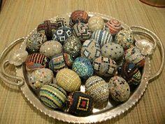 Famous Miniature eggs by artist/novelist, Farrell Hamann