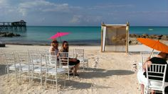 One of the options for a wedding ceremony at Sandals or Beaches resorts