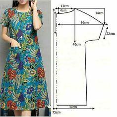 Dress Making Patterns, Skirt Patterns Sewing, Sewing Patterns Free, Clothing Patterns, Diy Clothing, Sewing Clothes, Costura Fashion, Diy Fashion Hacks, Fashion Sewing