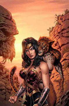 Wonder Woman and Cheetah by Liam Sharp