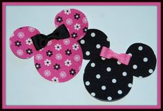 DIY Minnie Mouse Black and Pink Dots Applique and  by SoxThatRock, $3.99
