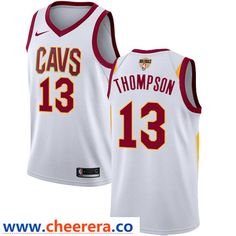 d0fe4906bf2 Nike Cavaliers  13 Tristan Thompson White The Finals Patch NBA Swingman  Association Edition Jersey Nba